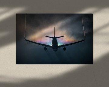 KLM Airbus A330-200 mit Regenbogenkondensation von Mark de Bruin