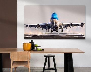 KLM 747 take-off vanaf de Kaagbaan van Dennis Janssen