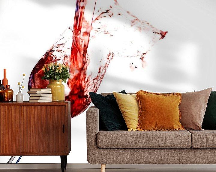 Impression: Splashing red wine sur Martijn Smit
