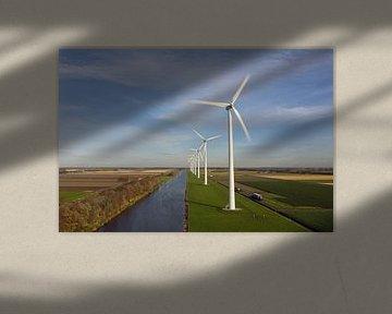 Moderne Windmühlen in den Niederlanden von Menno Schaefer