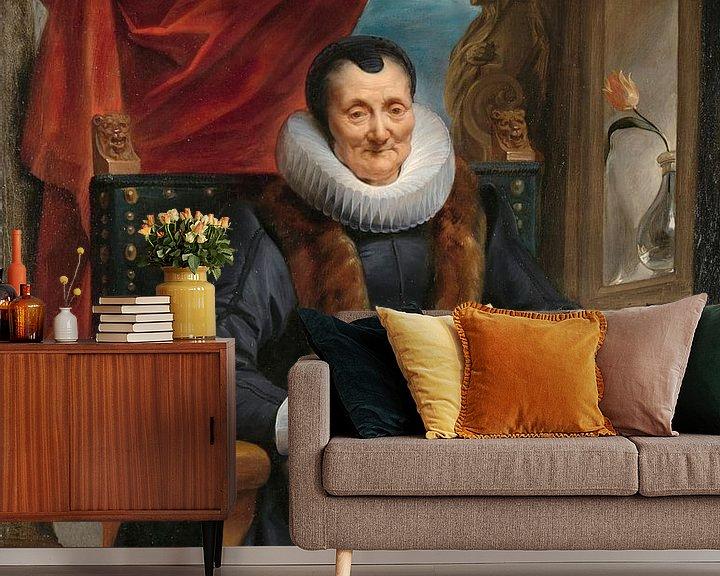 Beispiel fototapete: Porträt von Magdalena de Cuyper, Jacob Jordaens