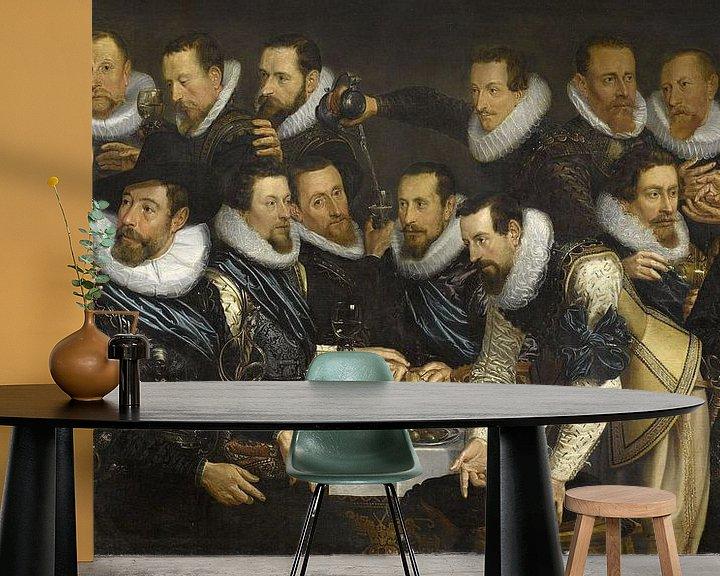 Beispiel fototapete: Offiziere und andere Schützen aus dem 10. Bezirk in Amsterdam, Jan Tengnagel