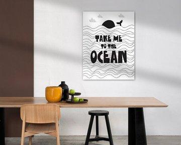 Kinderkamer Zwart Wit - Take Me To The Ocean - van AMB-IANCE .com