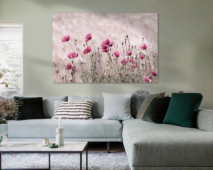 Impression: Impression de coquelicots pastel roses sur Tanja Riedel