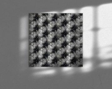 Schwarzweiss-Muster, Diagonale von Rietje Bulthuis
