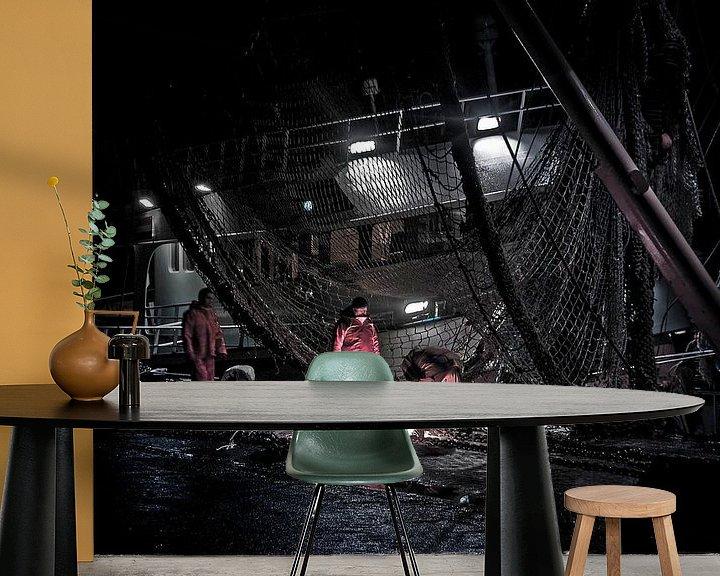 Sfeerimpressie behang: Nightshift van Michel Derksen