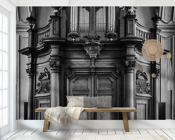 Sfeerimpressie behang: orgel van emiel schalck