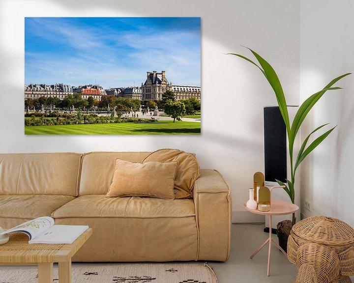 Sfeerimpressie: View to the Jardin des Tuileries in Paris, France van Rico Ködder