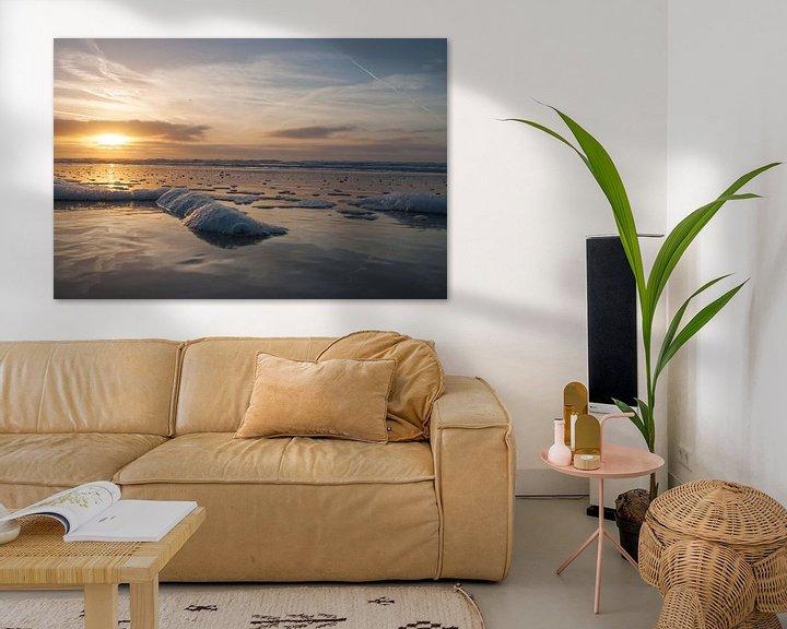 Sfeerimpressie: Zonsondergang in Egmond aan Zee van Dirk Sander