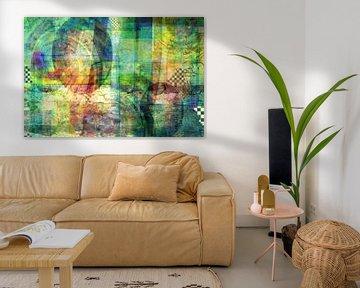Abstrakt, Grüns von Rietje Bulthuis