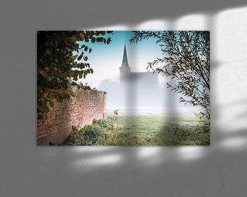 Hollands landschap en het dorp 't Woudt van Original Mostert Photography