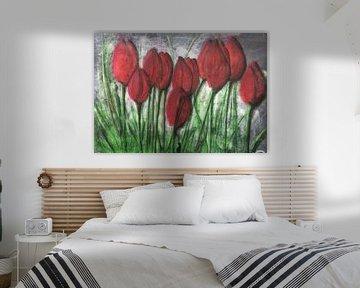 """""""Rote Tulpen"""" von Susanne A. Pasquay"""