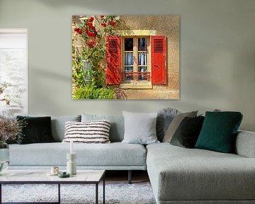 Fenêtre (Frans raam met blinden/luiken) van Caroline Lichthart