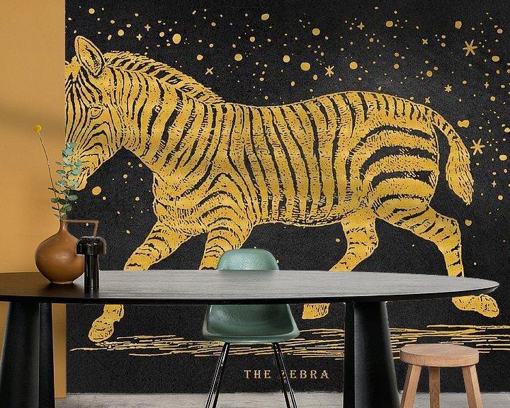 Beispiel fototapete: The golden Zebra von Angela Dölling