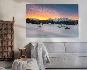 Winter in den Alpen von Michael Valjak