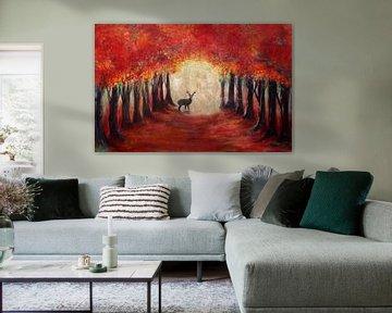hert in herfstglorie... von Els Fonteine