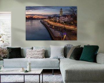 Deventer aan de IJssel bij zonsondergang van VOSbeeld fotografie