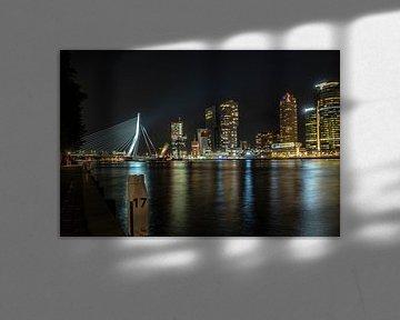 Skyline Rotterdam van Hans Brasz