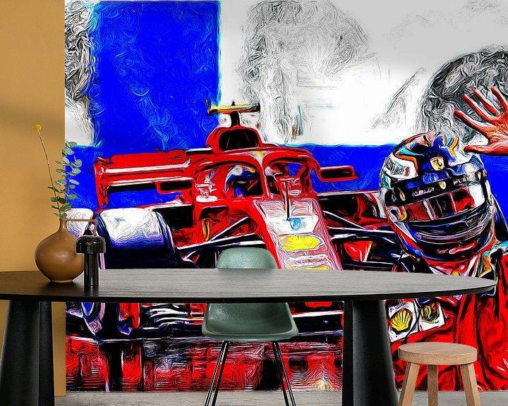 Beispiel fototapete: Räikkönen #7 von Jean-Louis Glineur alias DeVerviers