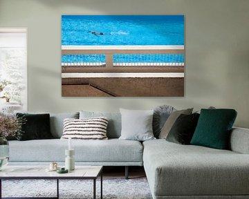 Zwembad in Frankrijk van Daan Ruijter