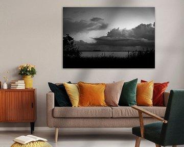 Wolkenlucht boven het Slotermeer von Peter Bouwknegt