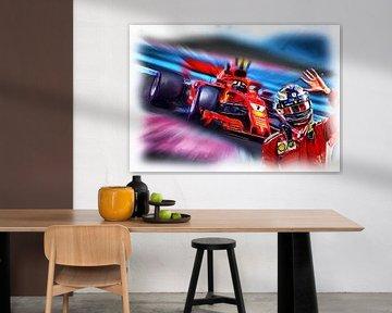 Kimi's last race in Red von Jean-Louis Glineur alias DeVerviers