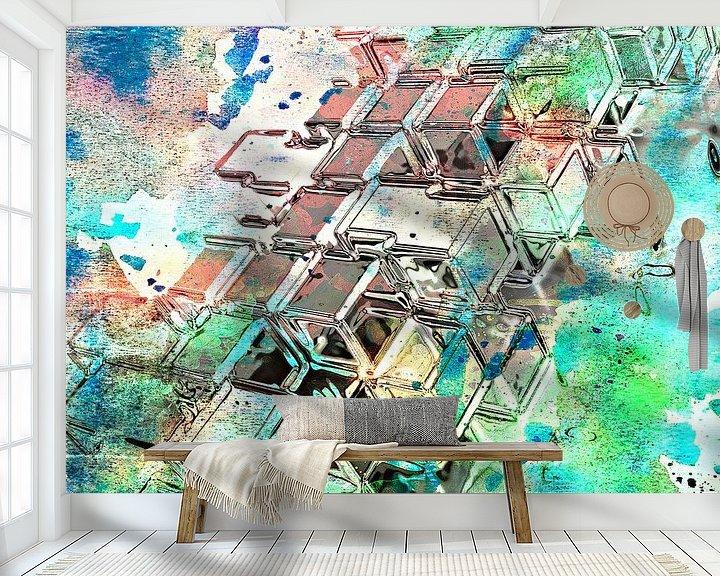 Beispiel fototapete: Blocks von PictureWork - Digital artist