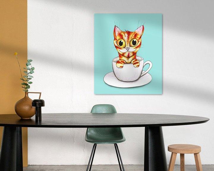 Beispiel: Gestreifte Kaffeekatze von Bianca Wisseloo