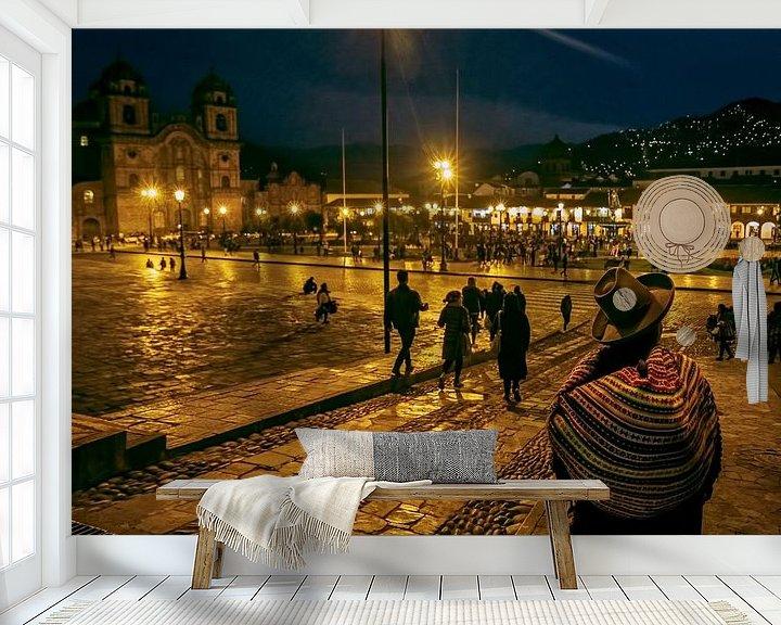 Sfeerimpressie behang: Cusco in de avond van Eddie Meijer