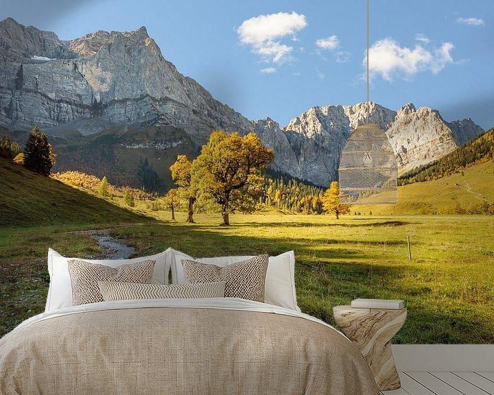 Beispiel fototapete: Alpenidyll in Österreich von Michael Valjak