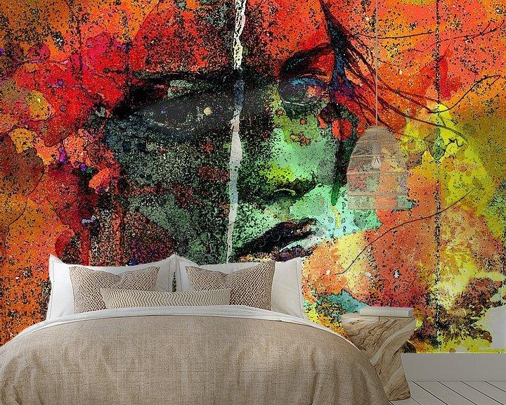 Beispiel fototapete: Lady behind colors von PictureWork - Digital artist