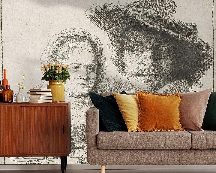 Beispiel fototapete: Selbstbildnis mit Saskia, Rembrandt vam Rijn