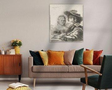 Zelfportret met Saskia, Rembrandt