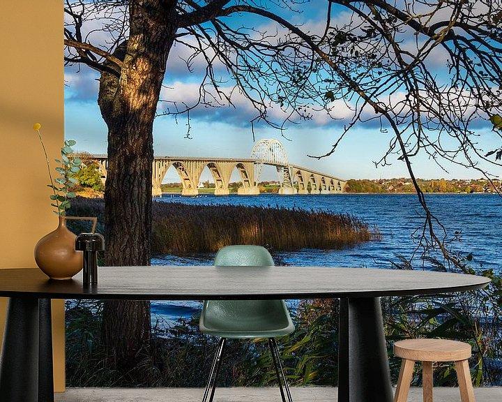 Beispiel fototapete: Eine Brücke zwischen Seeland und Moen in Dänemark von Rico Ködder