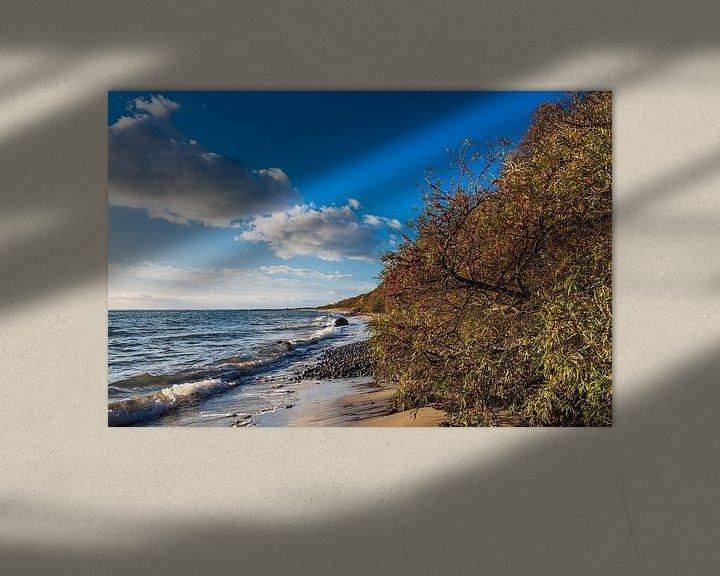 Sfeerimpressie: Baltic Sea coast in Klintholm Havn in Denmark van Rico Ködder