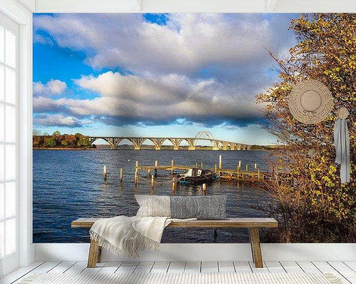 Impression: Eine Brücke zwischen Seeland und Moen in Dänemark sur Rico Ködder