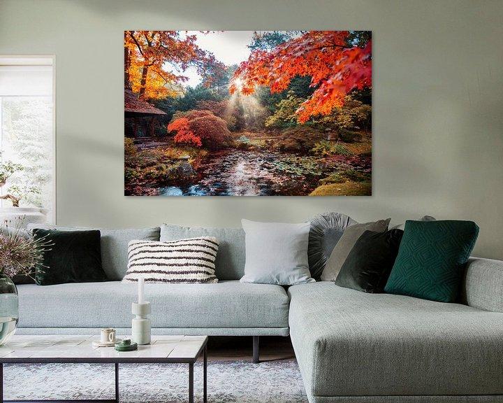 Beispiel: Herbsthintergrundpanorama im japanischen Park von Ariadna de Raadt-Goldberg