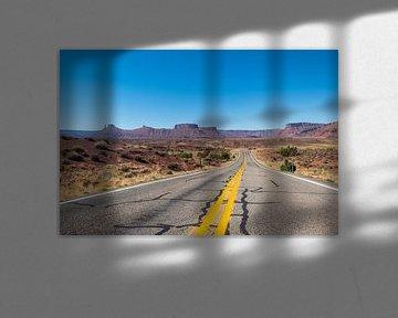 Weg door Utah van Richard van der Woude