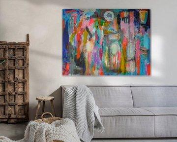 """Abstract schilderij """"Het miskende kind"""" van Ina Wuite"""