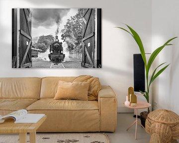 steamtrain van Heinz Grates