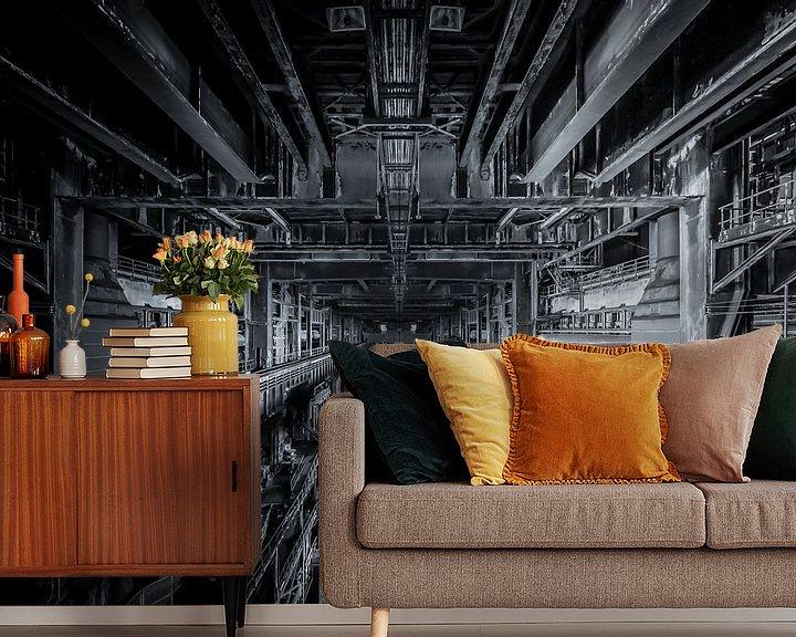 Beispiel fototapete: Alte stahlfabrik von Olivier Photography