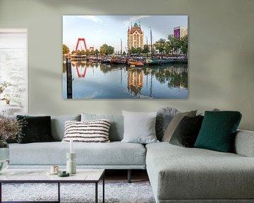 Willemsbrug met de oudehaven Rotterdam von William Linders