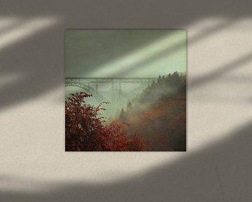 Müngstener brug in de mist van Dirk Wüstenhagen