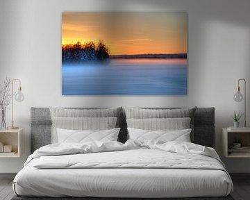 Sonnenuntergang in Schweden (Lappland) von Michel Kant