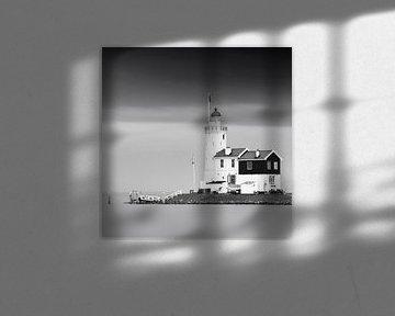 Pferd von Marken in schwarz-weiß, Niederlande von Henk Meijer Photography