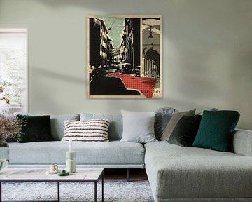 carte postale rétro de Bologne, Italie sur Ariadna de Raadt-Goldberg