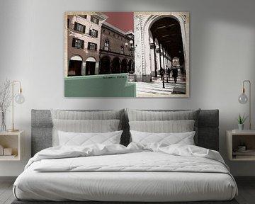 retro ansichtkaart van Bologna, Italië van Ariadna de Raadt-Goldberg