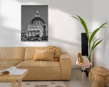 Ponte Sant Angelo und Petersdom, Rom, Italien von Henk Meijer Photography