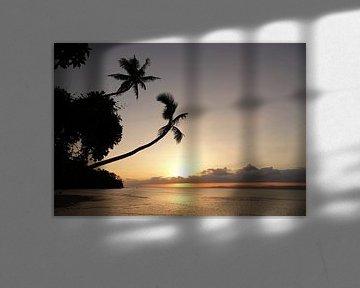 Zonsondergang op Beqa eiland in Fiji