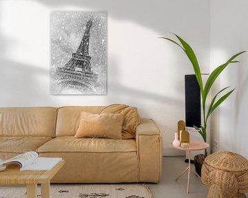 PARIS Eiffelturm   märchenhafter Winterzauber von Melanie Viola